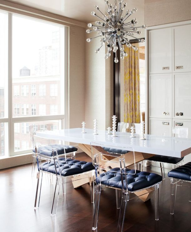 Amanda Nisbet Design: Chic, Modern Dining Room With Plexi Craft George II  Chairs