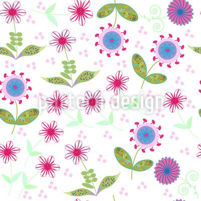 Floralia Vector Design   #flowers #floral #seamless #pattern #doodle #nature #abstract #cartoons #garden #summer #spring #tile #tileable #background #texture #print #textile