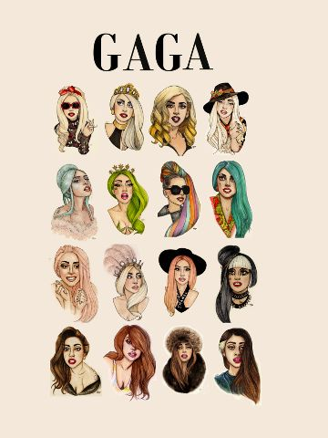 lady gaga  artpop illustrations