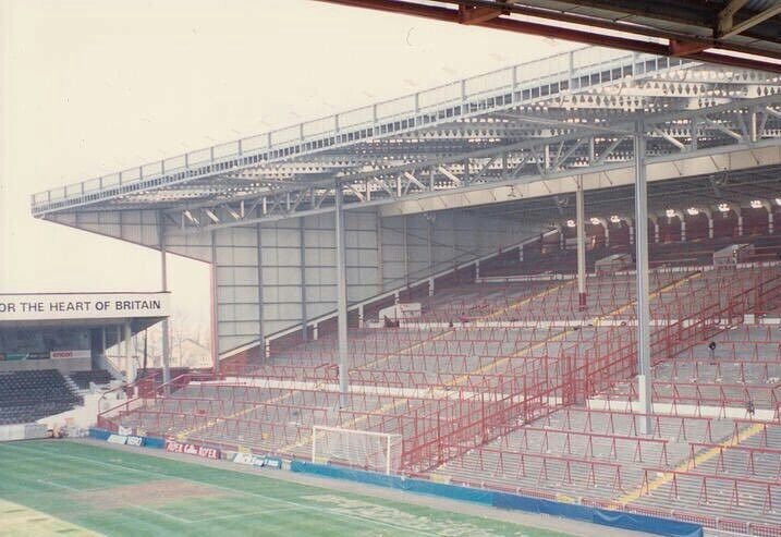 The Holte End, Villa Park. Aston Villa in the 1980s. Old