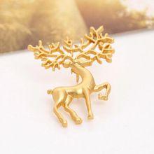 2016 новая мода мечты Oz матовый матовый золотой воротник контактный брошь лось искусства Бесплатная доставка(China (Mainland))