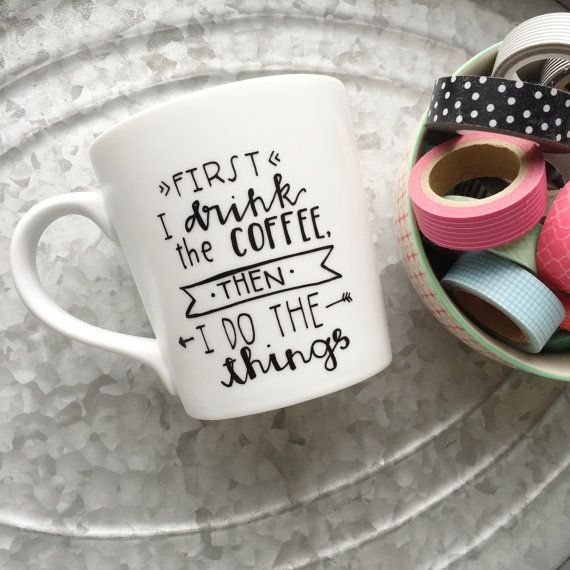 Start that someone specials day off with some truth and a giggle! :) This listing is for one white, high-quality ceramic coffee mug with the