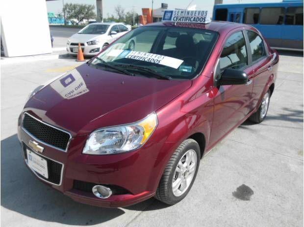 Chevrolet Aveo Paquete E DEMO 2014 Color Rojo Tinto