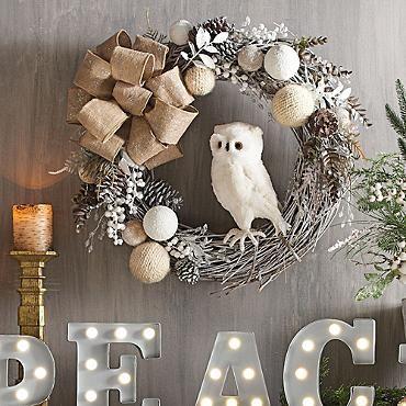 owl wreath                                                                                                                                                                                 More