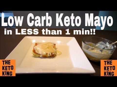 Low Carb Keto Mayo | Less than 1 minute! |Low Carb Mayonnaise | Creamy & Delicious | Keto Mayonnaise - YouTube