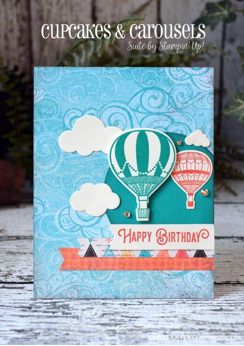 GDP068-001 - SU - Cupcakes & Carousels DSP Stack along with the Lift Me Up stamp set and coordinating thinlit dies