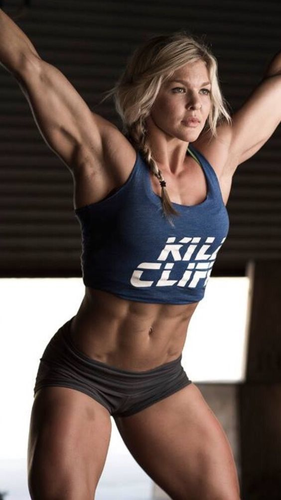 This is Brook Ence.  She is my inspiration.  Fit, proud of who she is and not afraid to have muscles!
