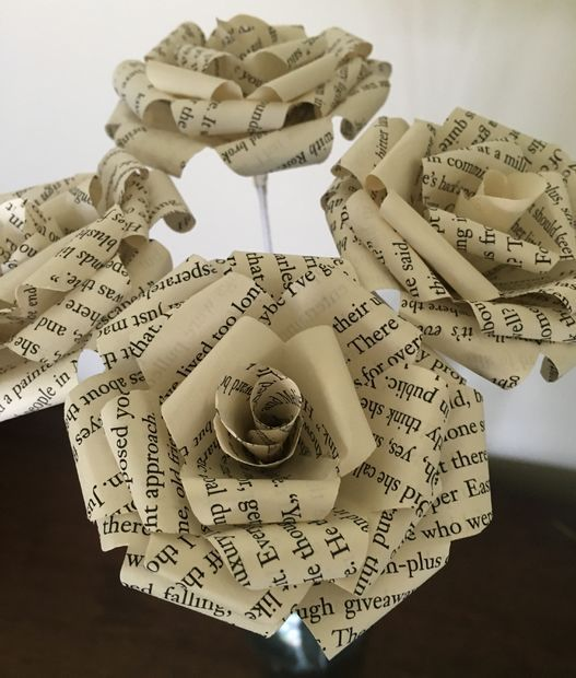 Picture of Book Page Roses