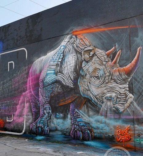 by Dest Jones, Miami #streetart