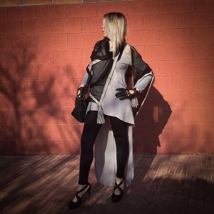 Tassels Made by @dana_valeins Handmade silk scarf #fashion #style #valeins #handmade #nunofelt #felt #streetstyle #streetfashion #aucklandfashion #merino #merinowool #newzealandwool #ootd #nzfashion #grey  #black #tassel #scarf #handspun #insta_fashion #insta_art #موضة #ستايل #فالينز #صناعة_يدوية #حرير #سكارف_حرير