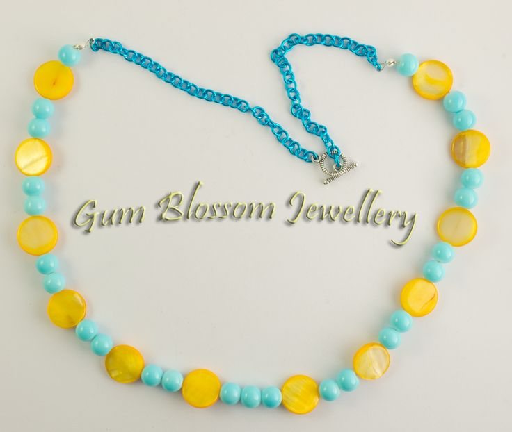 With a plethora of sunny days here it was simple inspiration for this necklace