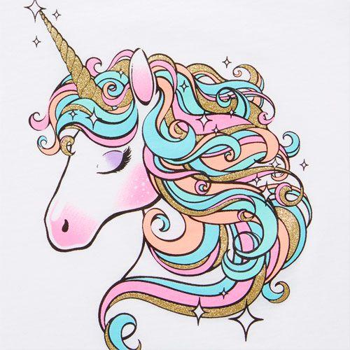 Toddler Girls Short Sleeve Glitter Unicorn Graphic Tee