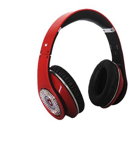 Monster Beats Studio Diamond Headphone Red with ControlTalk    www.saleheadphone2u.com