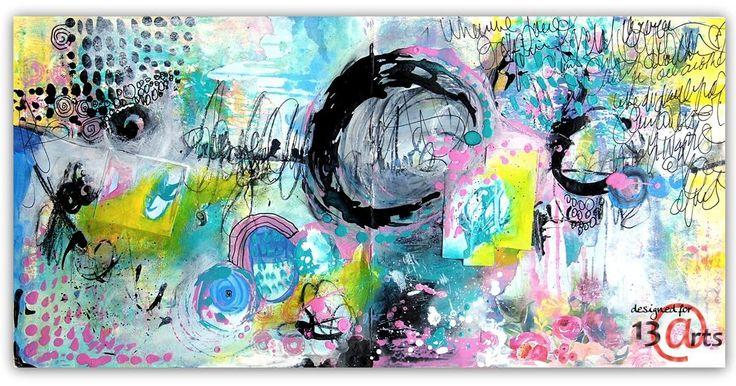 Abstract Art Journal Page   Fiona Paltridge