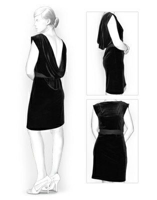 Deep Cowl Back Dress Free Pattern