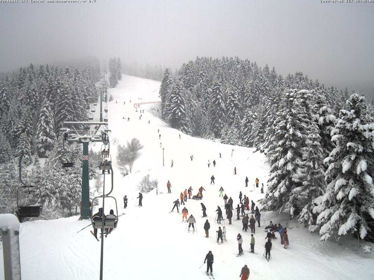 The majestic descent at Agriolefkes Ski Resort on #Pelion mountain #Greece