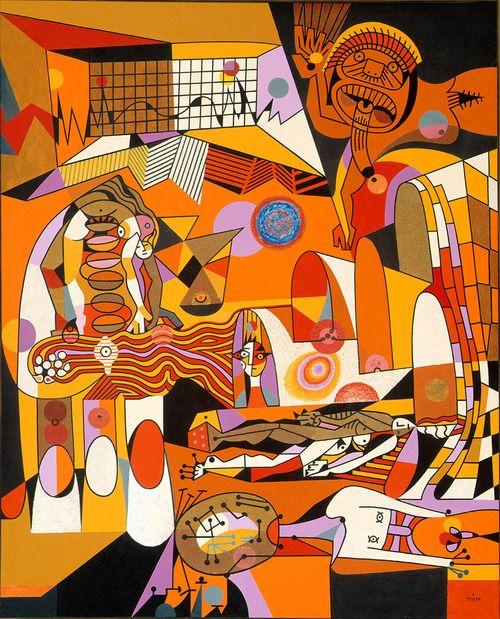 Une de mes oeuvre préféré de Pellan  Alfred Pellan, Au soleil bleu