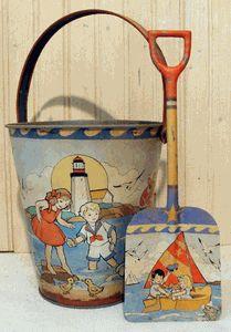 Vintage Sandpail & Shovel Set