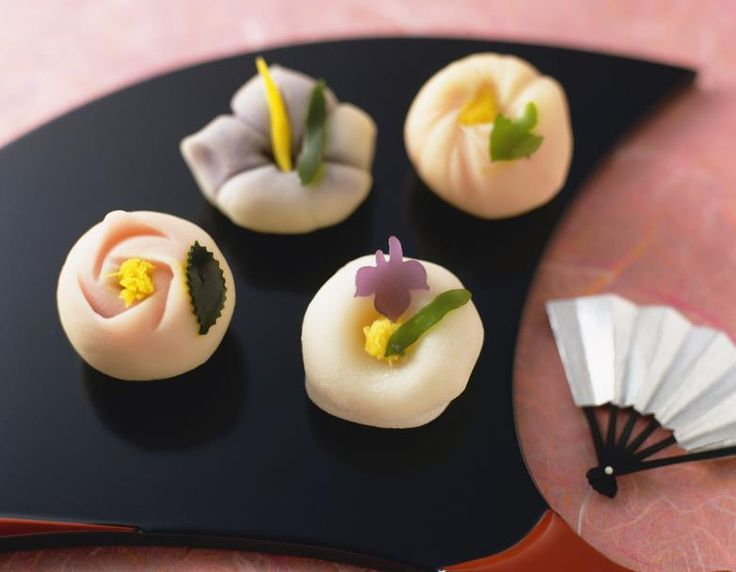 Wagashi (和菓子) is a traditional Japanese confection which is often served with tea, especially those made of mochi, azuki bean paste, and fruits. Serving quality wagashi is perceived as a sign of intelligence and good taste. Have you tried wagashi?