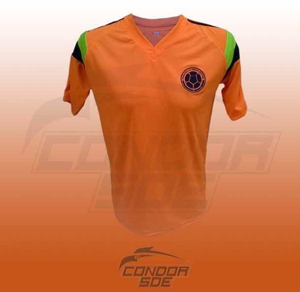 Camisa Selección Colombia naranja 2014 , entrenamiento.