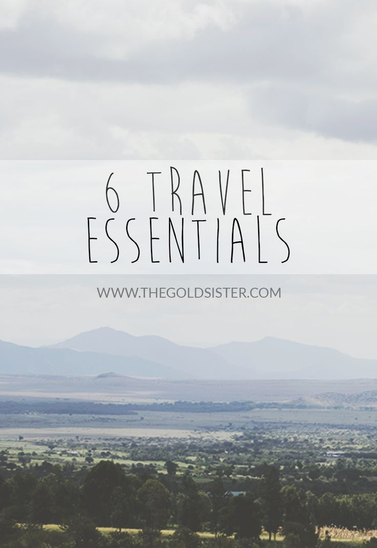 My list of 6 #travel #essentials to include while packing for your next trip. Click through to read >> #traveling #travelblogger