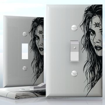 diy do it yourself home decor easy to apply wall plate wraps daughter of
