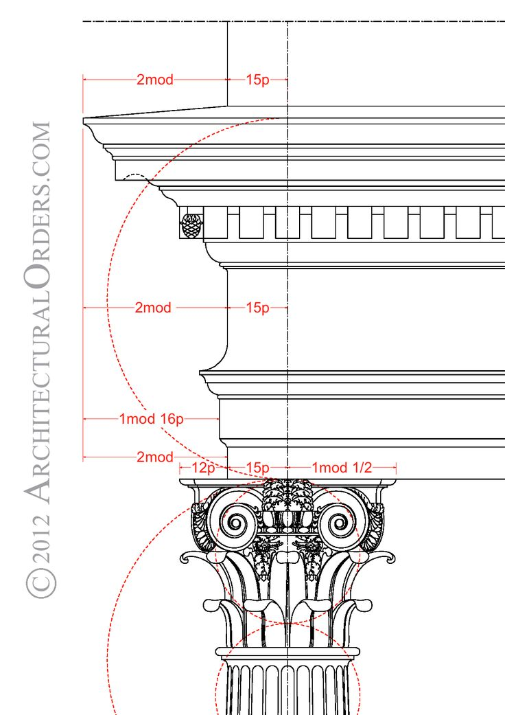 Composite Order: entablature and capital detail