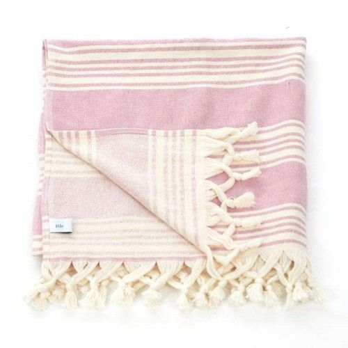 BODY TOWEL-PESTEMAL IN PINK/IVORY COLOR 75Χ160 (70%COT/30%POLY)