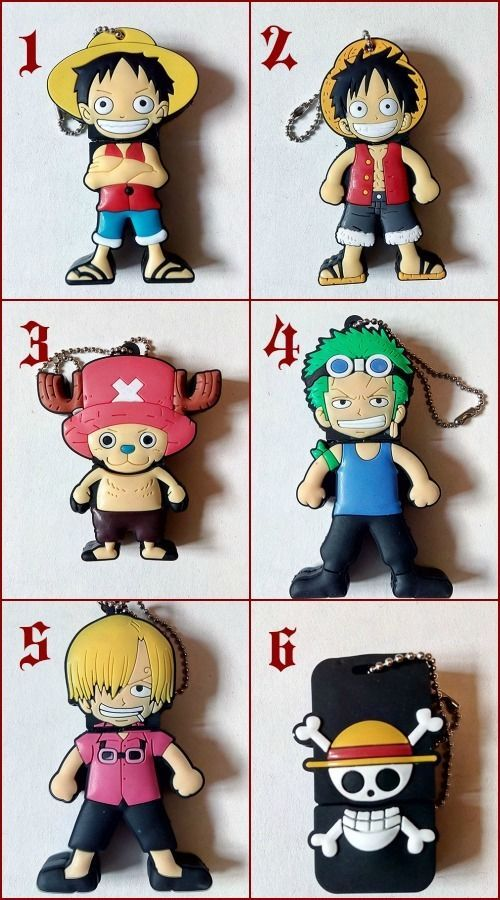 USB Flash 4GB One Piece - Luffy Sanji Zoro Chopper Cappello di Paglia Altre Dim
