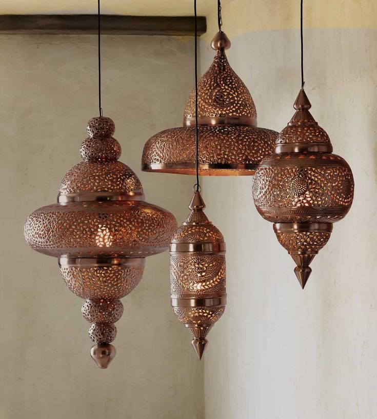 I could find a place for these! Antique Copper Moroccan Hanging Lamp - VivaTerra