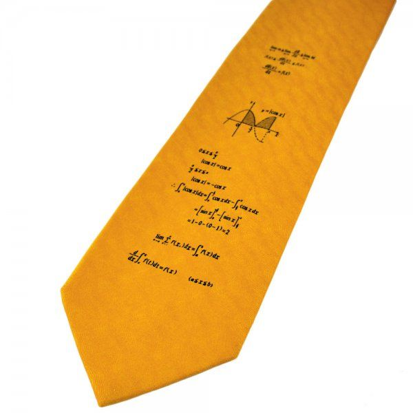 Gold Maths Novelty Tie