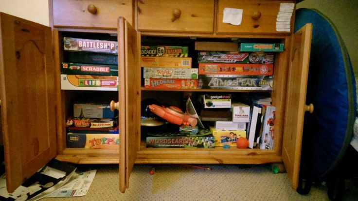 We enjoy a good board game, but the cupboard is full!!
