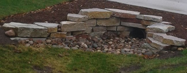 drainage pipe driveway landscaping | Having a culvert or drainage pipe running through your property can be ...