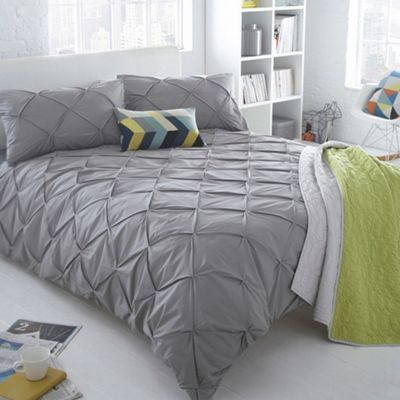 Grey Ruched Brooklyn Bedding Set Shops Home And Grey