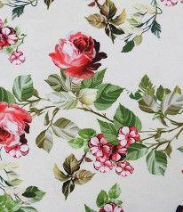STENZO BIO JERSEY Beautiful Roses Creme