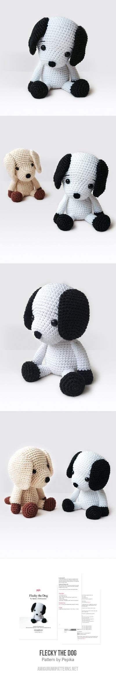 Flecky The Dog Amigurumi Pattern