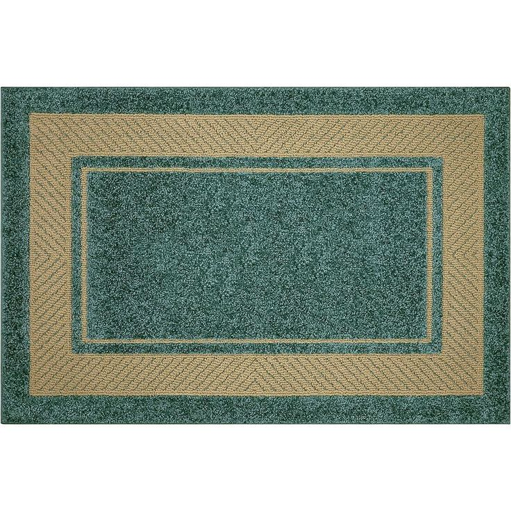 Maples Border Rug, Turquoise/Blue (Turq/Aqua)