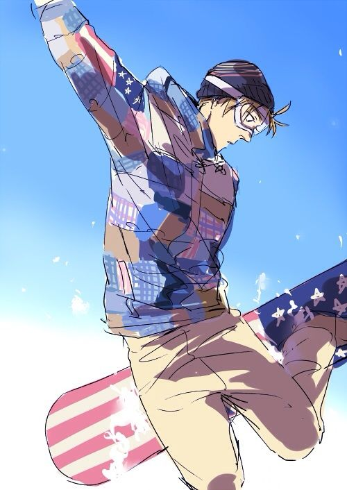 America snowboarding for the Winter Olympics - Hetalia
