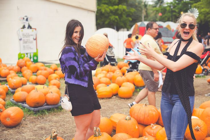 Living in Miami is great, but sometimes I miss REAL Fall weather! My friends and I made the best of our situation and headed to a pumpkin patch, tonight on ‪#‎SoulinStilettos‬! Photos by Christine Michelle Photography and romper c/o L*Space by Monica Wise  @christieomp #LSpace #Miami #Fashion #blog #PumpkinPatch