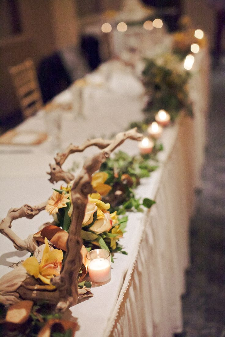 I think i 39 m falling more and more in love with the for Driftwood table centerpieces