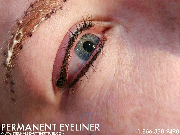 Permanent Makeup (Permanent Eyeliner) Wake up beautiful & bold with Eternal Beauty's Permanent Makeup Service.  This permanent eyeliner was done by our very own Nikol Rayner.  Book today!