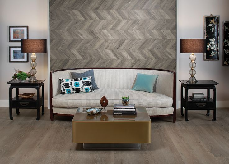 Go Bold with Chevron Accent Walls from Quick•Step | Quick•Step Style Blog