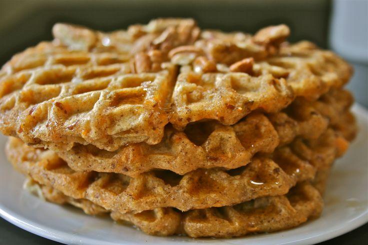 Chai Spiced Sweet Potato Waffles