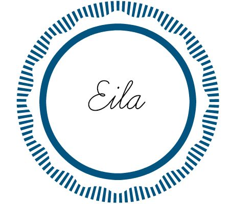 "Eila (pronounced ""Eye-Lah"") is more commonly spelled Isla, but I like this spelling, because the pronunciation is a little more obvious. It's super feminine and is means ""oak tree"" in Hebrew."