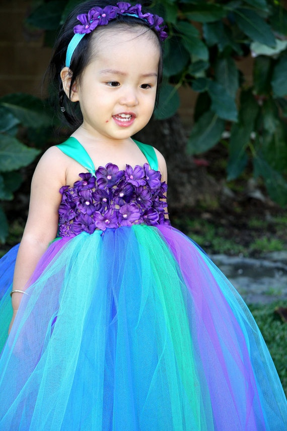 Peacock Inspired Tutu Dress Series IV  $59.99  Giselle Boutique