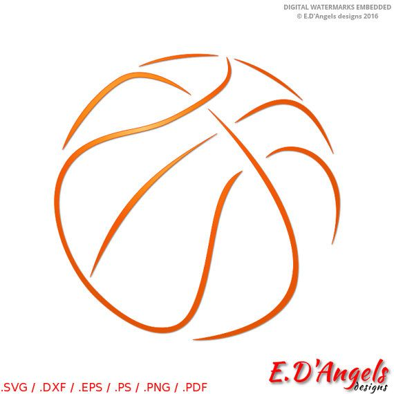 Basketball svg  Basketbal svg files  Vector clipart