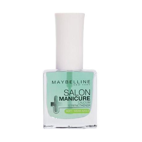 Το Maybelline Salon Manicure Calcium Strengthener ενδυναμώνει τα μαλακά και εύθραυστα νύχια, χάρη στην εμπλουτισμένη με φθόριο και ασβέστιο σύστασή του. Χρησιμοποιώντας καινοτόμα συστατικά όπως pigments που καταπολεμούν τα κίτρινα νύχια και εκχύλισμα κίτρου που φωτίζει το χρώμα και επαναφέ