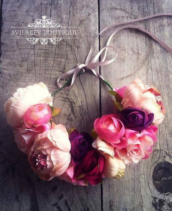 Floral Crown(statement piece) via Avierley Boutique. Click on the image to see more!
