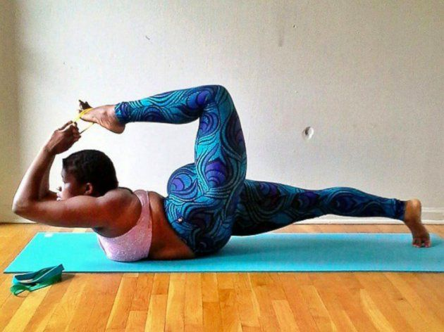 Image result for Plus-sized yoga instructor goes nude in new photos as she writes on body positivity