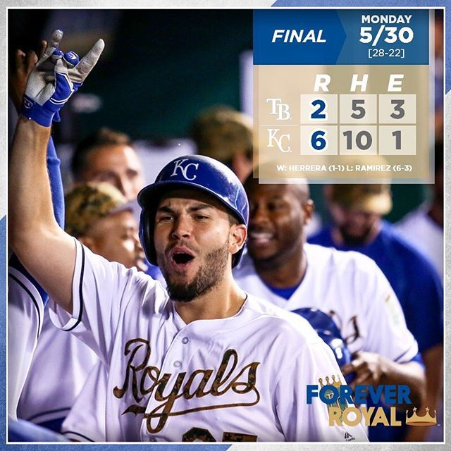 Eric Hosmer's three-run blast in the 8th helps power #Royals over Tampa Bay. #ForeverRoyal